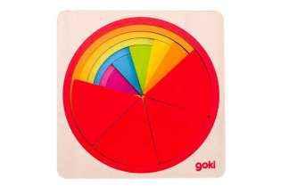 Détail Puzzle Cercle Fraction en Bois Goki