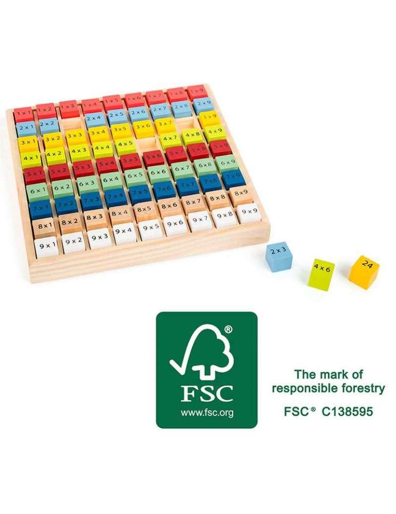 Table de Multiplication Éducatif Bois FCS Small Foot