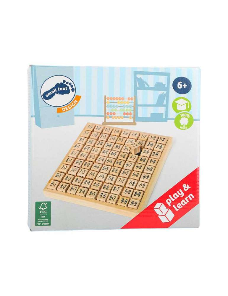 boite Tables de Multiplication Bois Naturel FSC small Foot