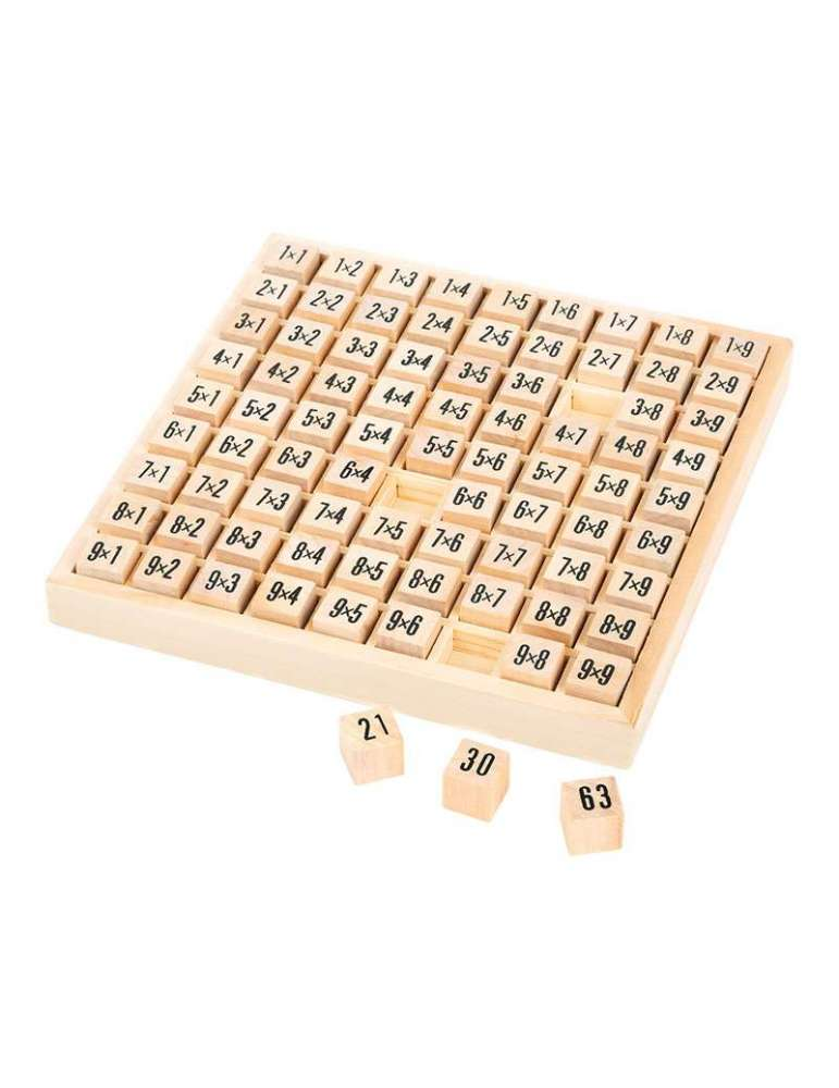 Tables de Multiplication Bois Naturel FSC small Foot