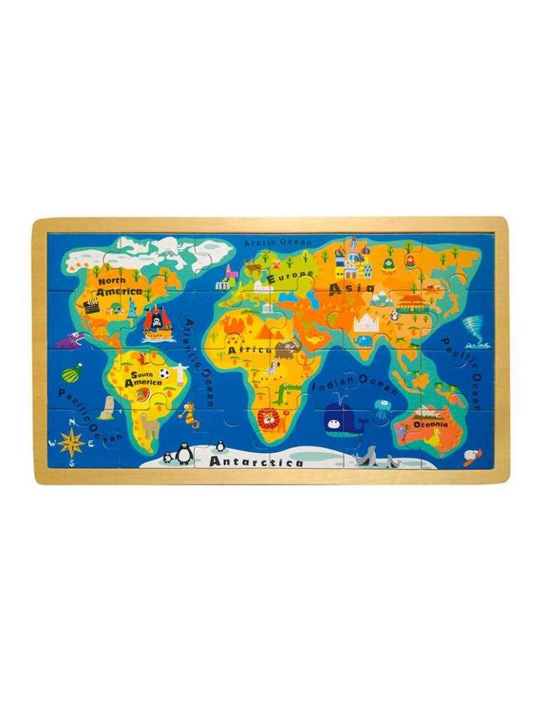 Puzzle Carte du Monde en Bois - Small Foot