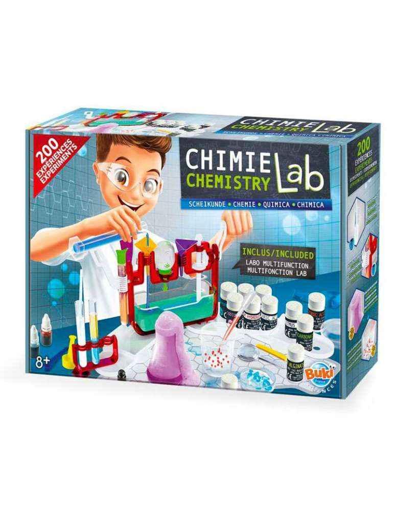 Boite Science LAB Chimie - Jeu SCientifiques - MAXI Coffret 200 Expériences - Buki