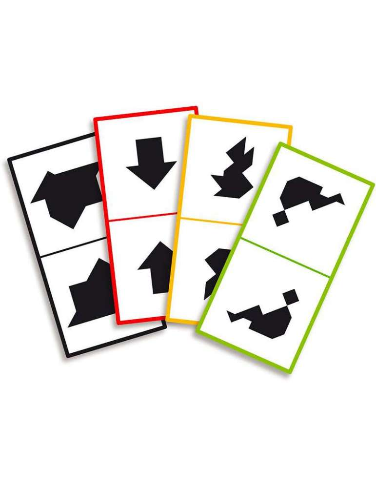 cartes du jeu Tangram Battle - Remue Méninges - Vilac