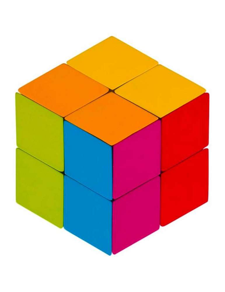 Cube Puzzle des Losanges - Jeu en Bois - Goki
