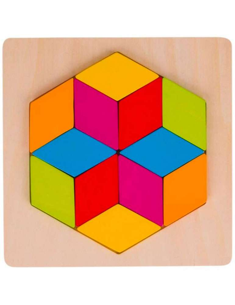 Puzzle des Losanges - Jeu en Bois - Goki