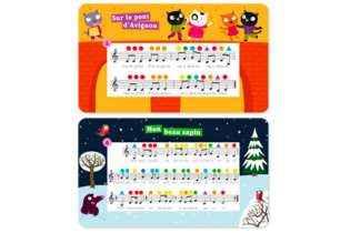 2 partitions J'apprends la musique - Jeu éducatif - Nathan