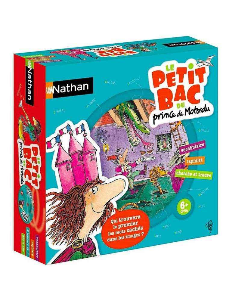 Boite Le petit Bac du prince de Motordu - Jeu éducatif - Nathan
