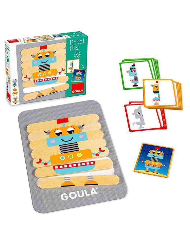 boite et contenu Robot MIX - Jeu de Logique - Goula