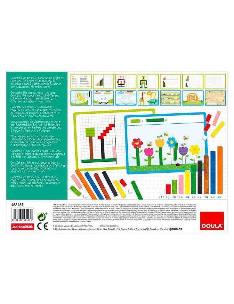 Verso Boite Activité avec réglettes Cuisenaire - Montessori - Goula