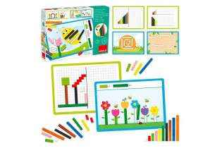 boite et cointenu Activité avec réglettes Cuisenaire - Montessori - Goula