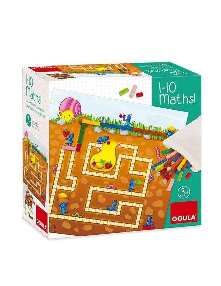 Boite 1-10 Maths! - jeu de société Montessori - Goula