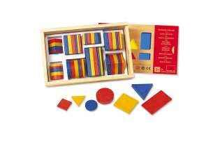 Contenu boite Blocs Logique 1 - jeu éducatif Montessori - Goula