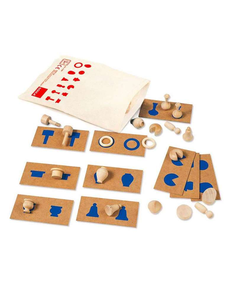 Perception Tactile 2 - formes reliefs - jeu éducatif Montessori - Goula