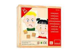 Boite Expressions et émotions - jeu éducatif Montessori - Goula