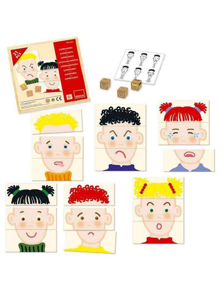 Expressions et émotions - jeu éducatif Montessori - Goula