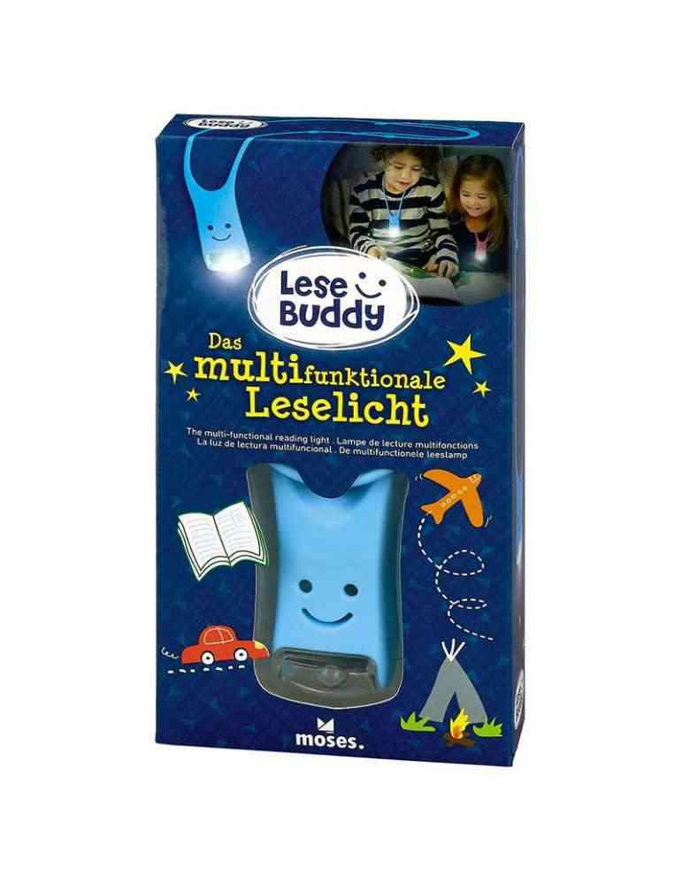 Boite Lampe de lecture enfant Multifonctions Bleue - Moses.