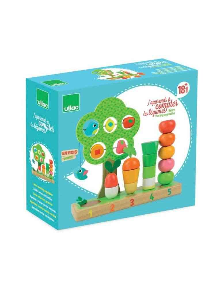 Boite J'apprends à compter les légumes - Vilac - Jouet éducatif en Bois
