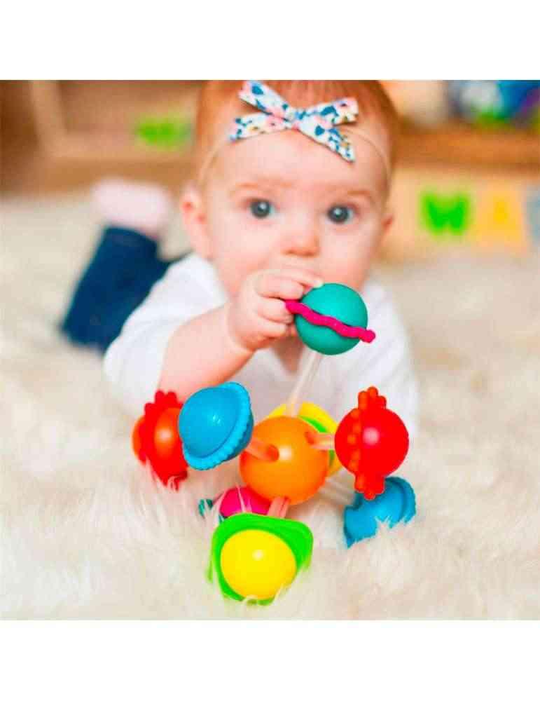 Wimzle avec bébé - Fat Brain Toys - Jeu d'éveil - hochet