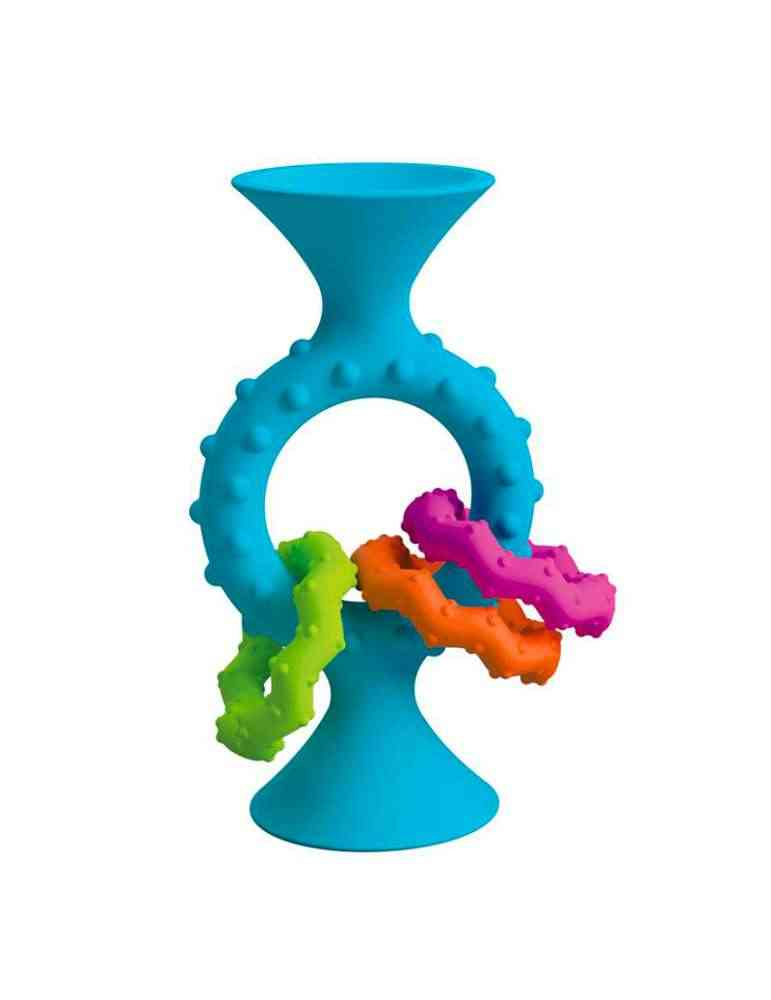 Hochet Pip Squigs Loops bleu - Fat Brain Toys - Jeu d'éveil
