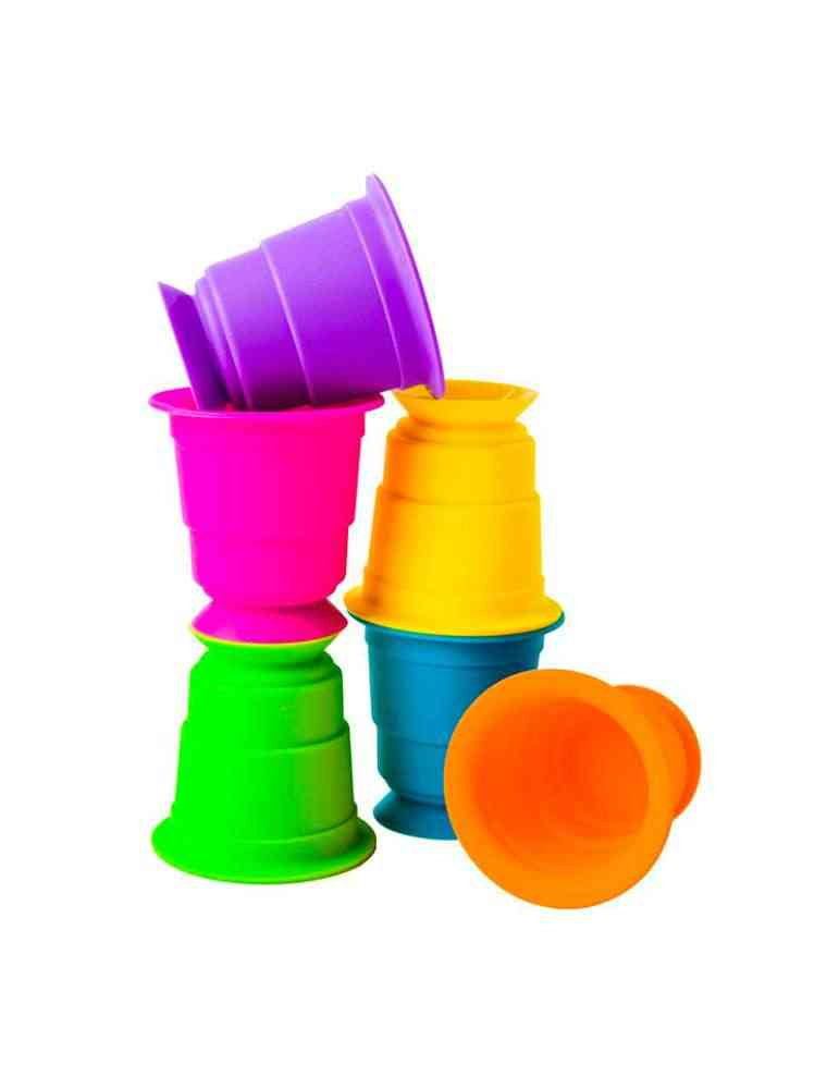 Gobelets ventouse Suction Kupz - Fat Brain Toys - jeu d'éveil