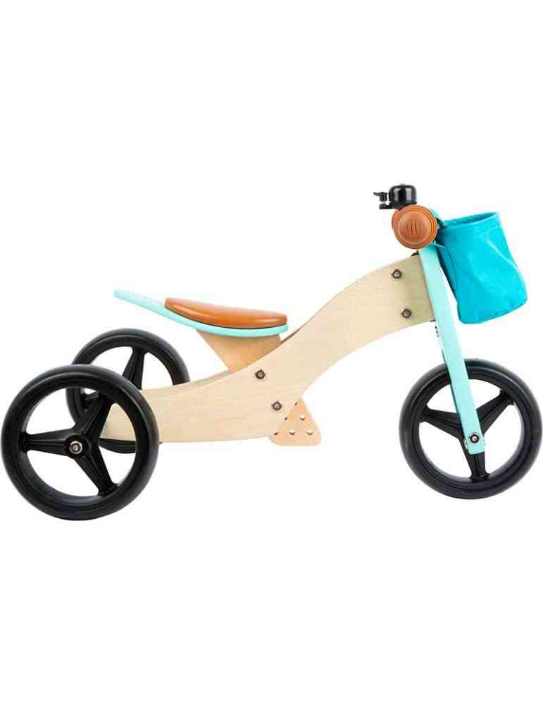 Draisienne Tricycle 2 en 1 Turquoise évolutive - Small Foot