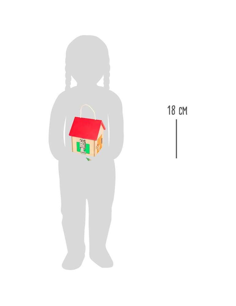 taille Maison à serrures - Small Foot - jeu Montessori
