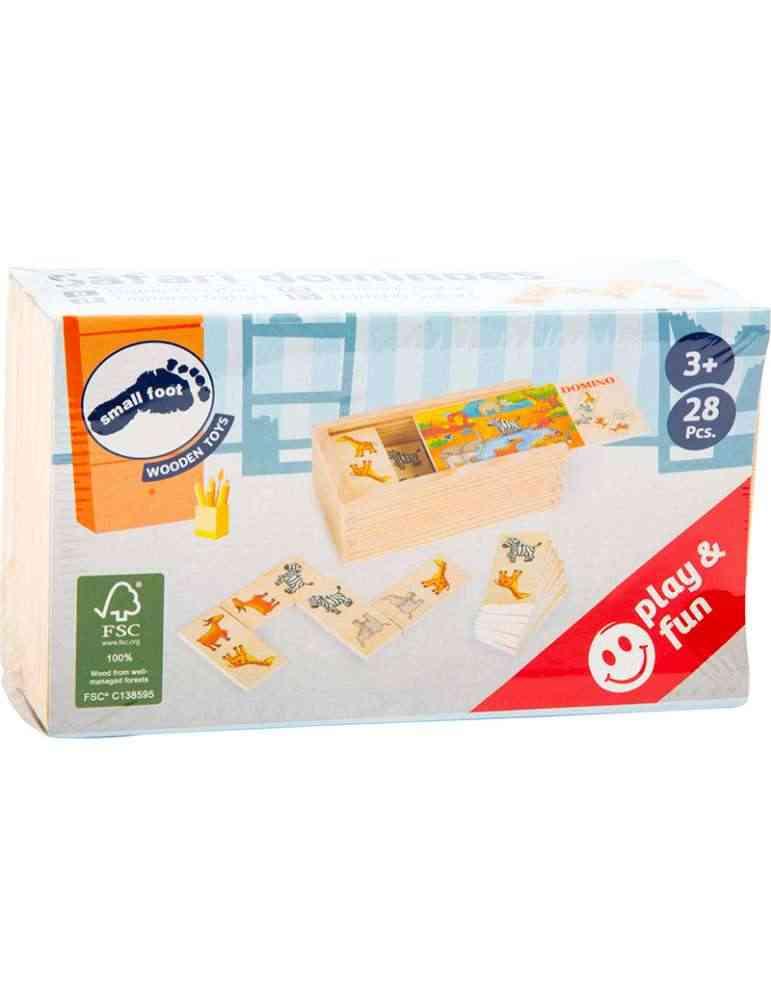 Boite Domino safari - Small Foot - jeu Montessori