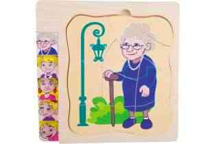 Puzzle à étage en bois - La vie de grand mère - Small Foot