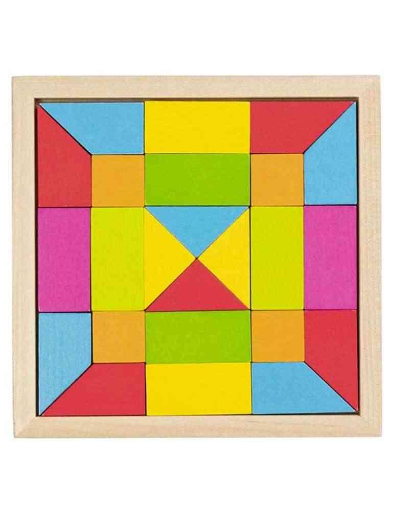 Puzzle mosaïque arc en ciel - Jeu en Bois - Goki