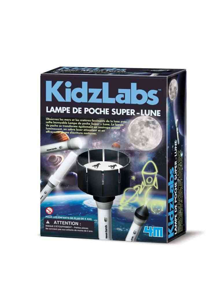 Lampe de Poche Super Lune - 4M - Kidzlabs - Jouet Scientifique