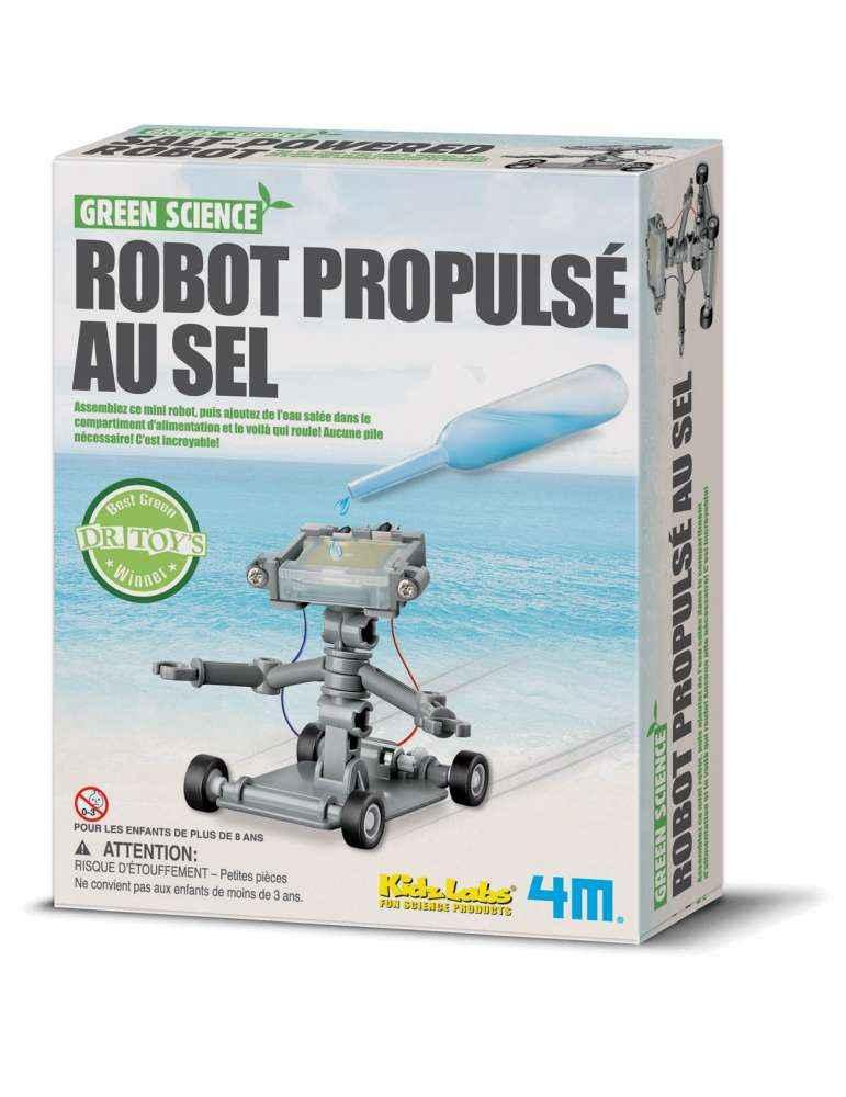 Robot Propulsé au Sel à Construire - 4M - Jouet Scientifique Ecolo