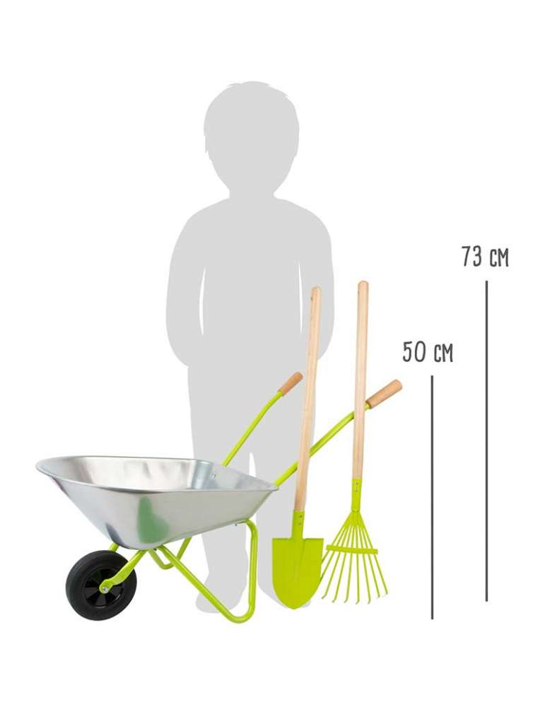 Brouette avec outils de jardin - Small Foot