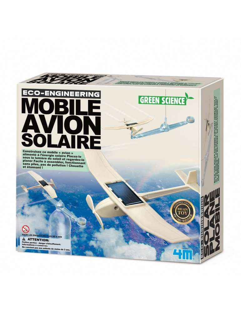 Mobile Avion Solaire - 4M - Green Science - Kidzlabs