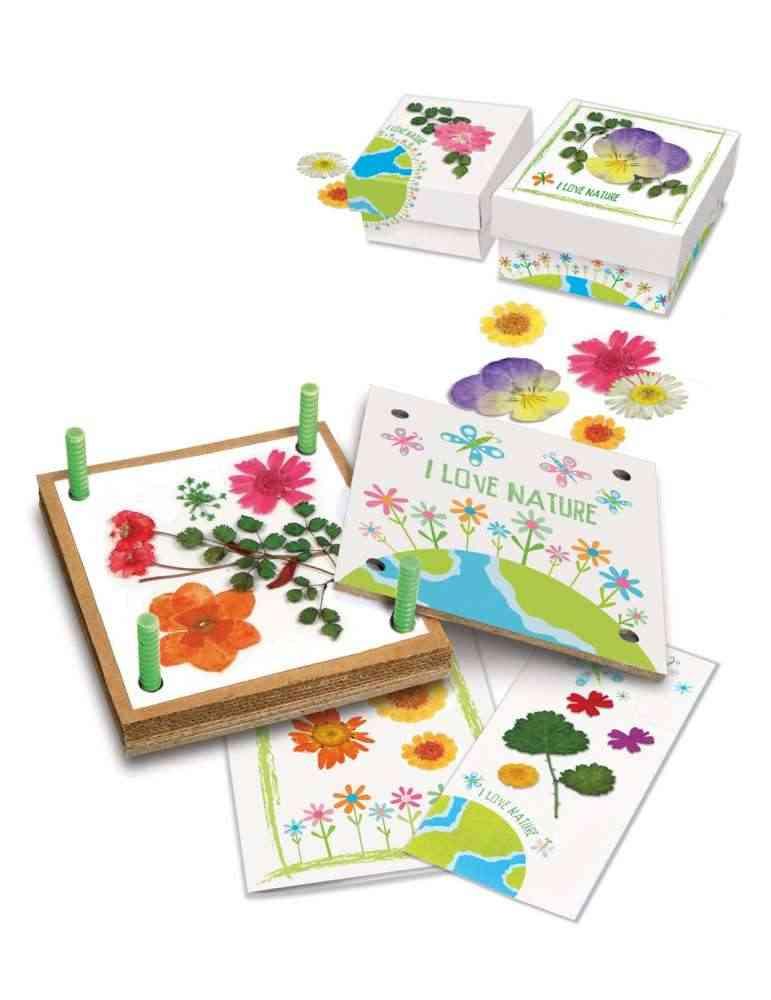 Kit Fleurs Pressées - 4M - Jeu Écologique - Jouet Nature