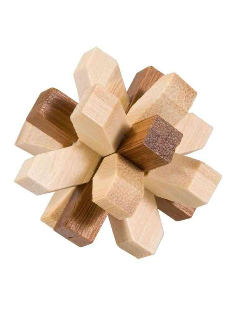 IQ Test - Casse Tête 3D Puzzle Cristal - Fridolin en Bambou