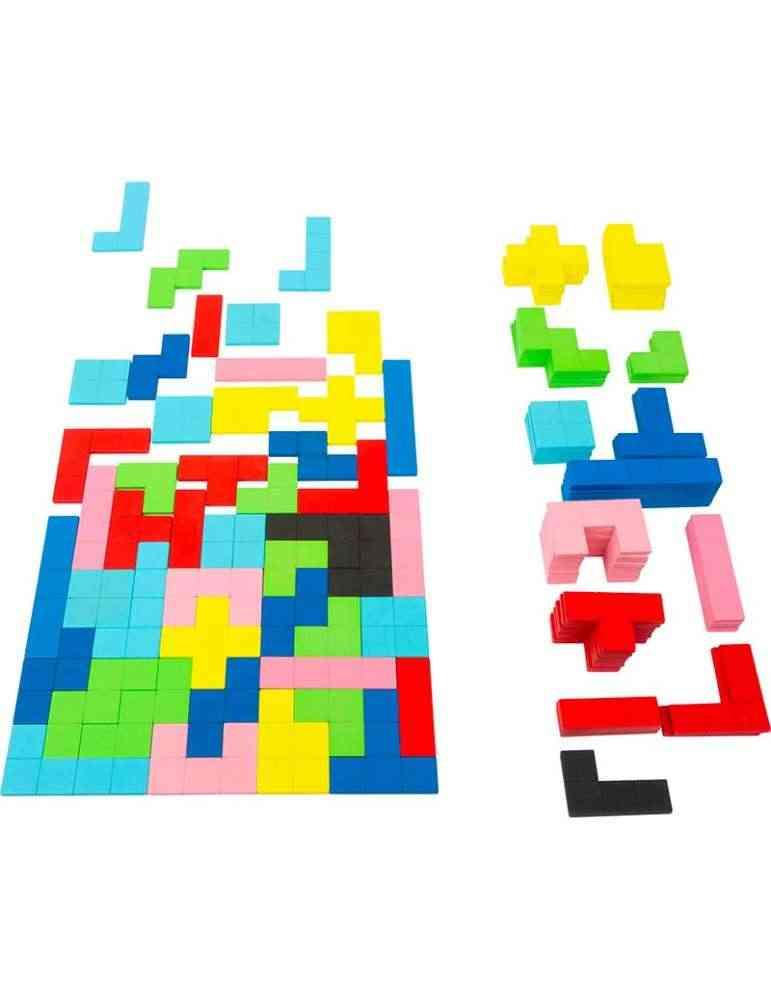 Puzzle en bois Tétris - jeu éducatif