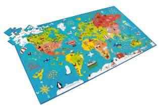 Puzzle Carte du Monde Éducatif - Scratch de coté