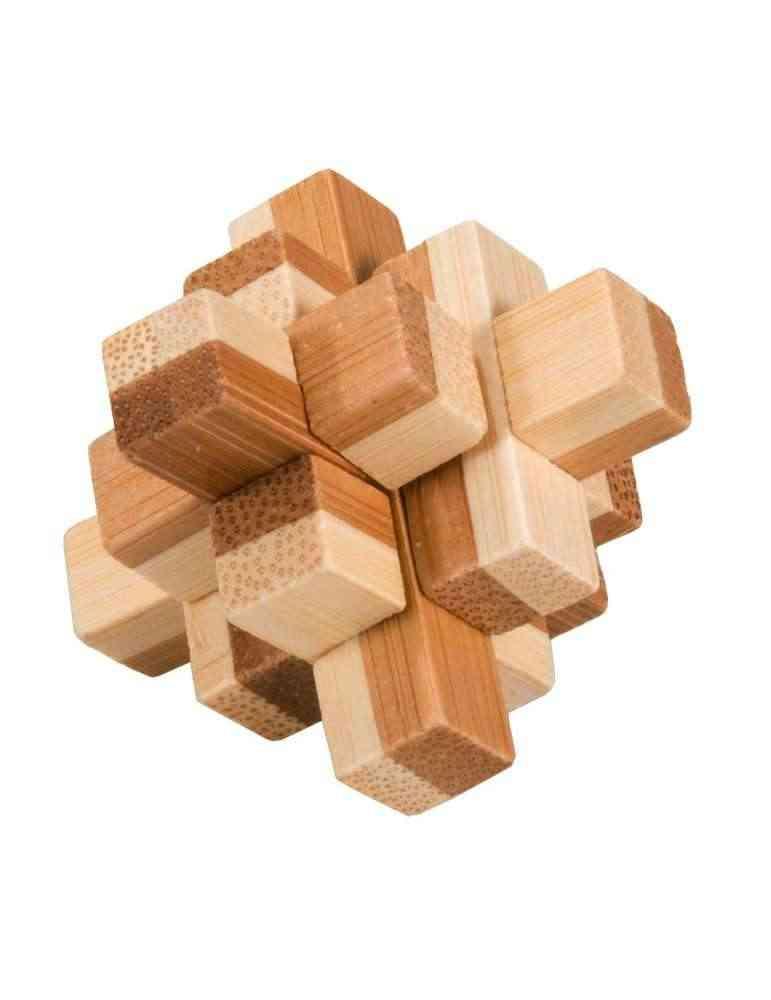 IQ Test - Casse Tête 3D Puzzle Block 2- Fridolin en Bambou