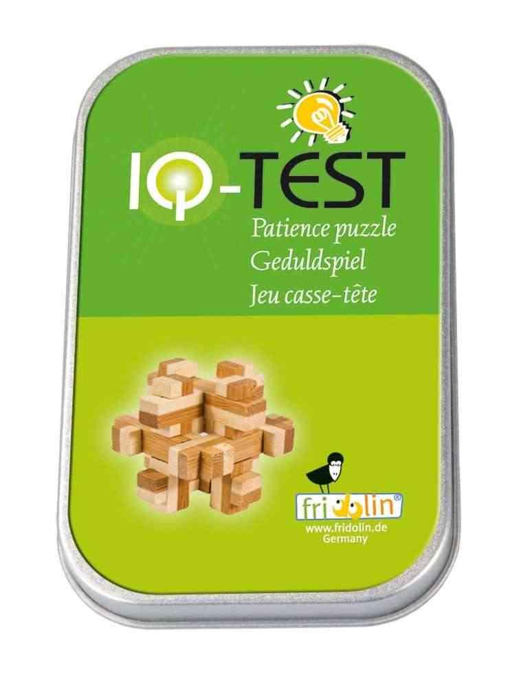 IQ Test - Casse Tête 3D Puzzle - Fridolin en Bambou
