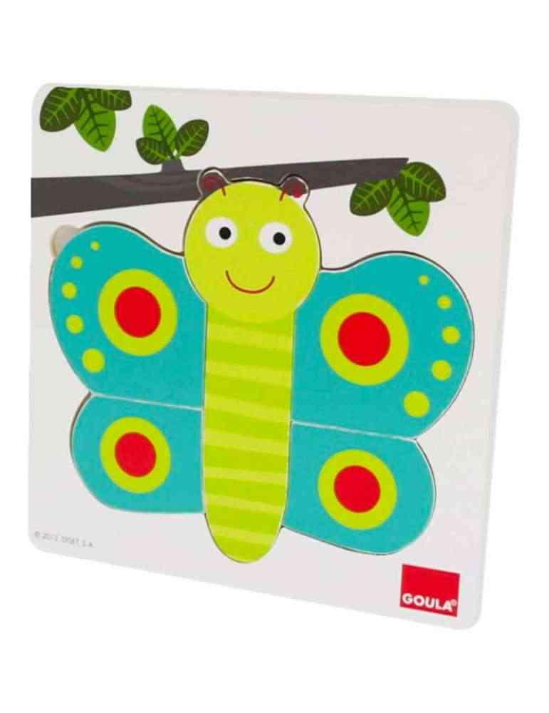 Puzzle papillon trois niveaux - Goula - jeu éveil montessori