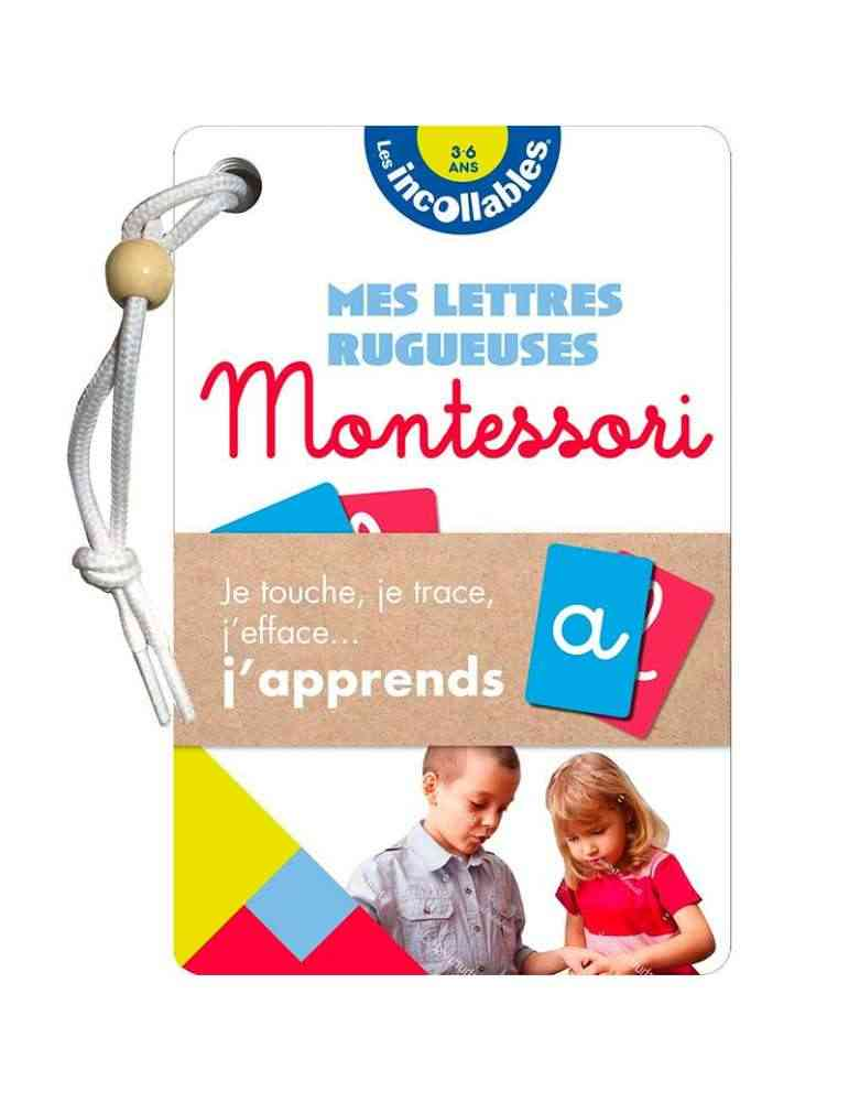 Mes lettres rugueuses montessori - les incollables playbac