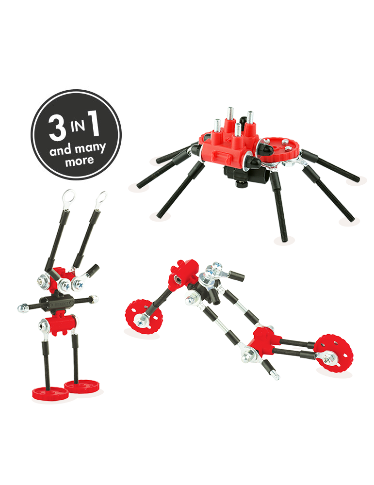 SPIDERBIT - Offbits - Medium 3 en 1 - Jeu de Construction