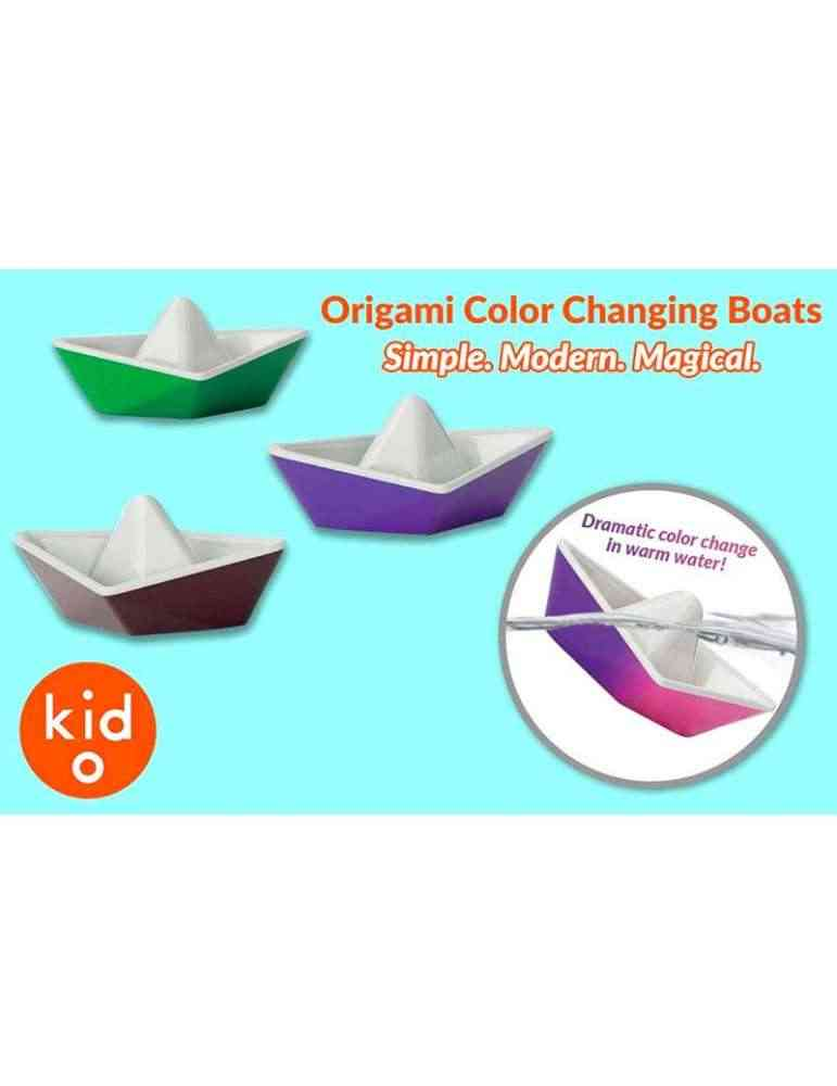 Bateaux origami à changement de couleur - Kid O - jouet de bain