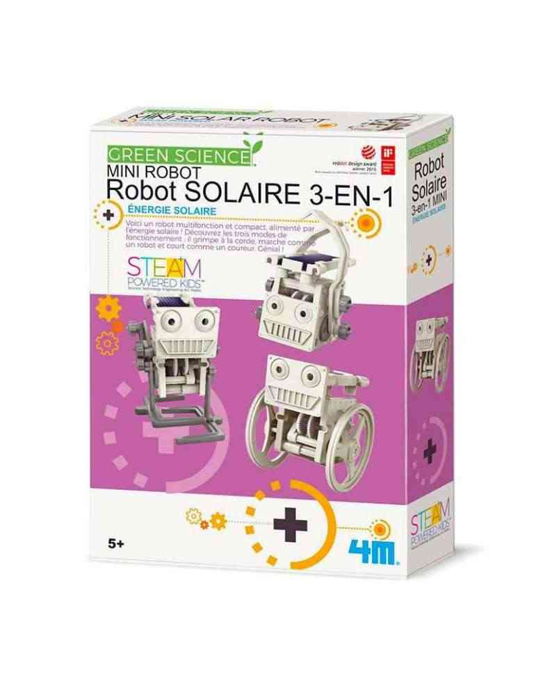Robot solaire 3 en 1 - 4M - jeu écologique - jouet scientifique