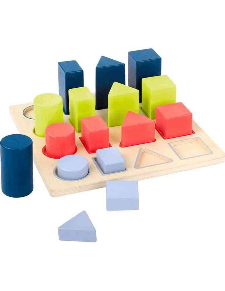 Puzzle à encastrer géométrie - jeu d'éveil