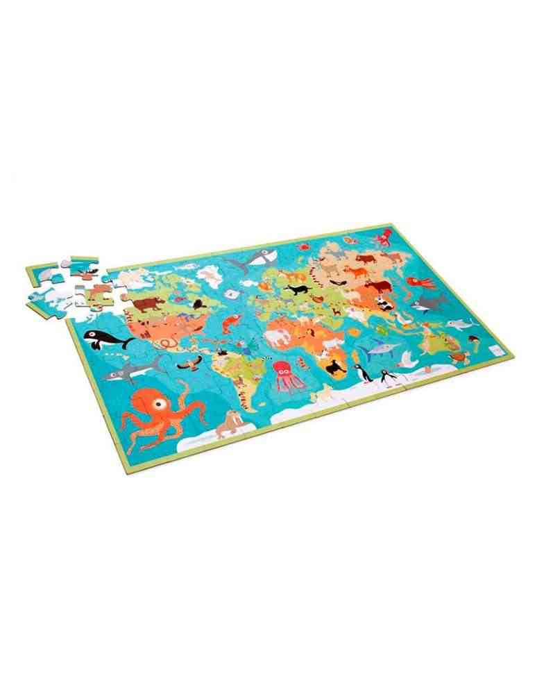 Puzzle carte du monde des animaux Scratch