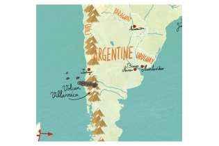 Carte du Monde Fantastique Magnétique- Vilac - Jouet en Bois Aimanté -