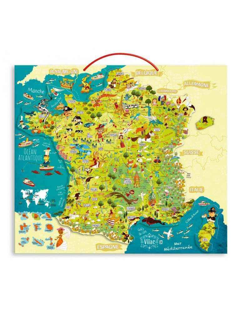 Carte des Merveilles de France Magnétique - Vilac - Jouet en Bois
