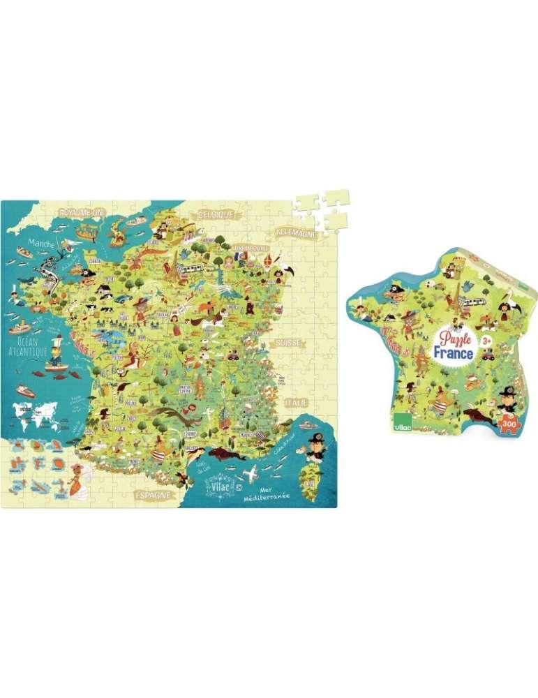 Puzzle Carte des Merveilles de France - Vilac - 300 Pièces