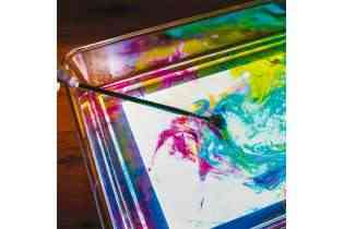 Bac d'exploration pour table lumineuse sensorielle A3